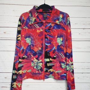 Clara Sun Woo Full Zip Floral Shimmer Jacket